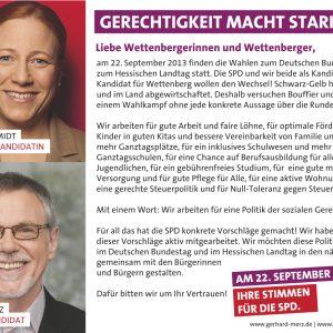 Dagmar Schmidt und Gerhard Merz für Wettenberg