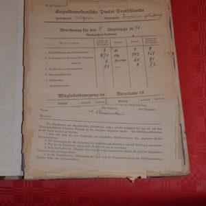 Das alte Protokollbuch des Ortsvereins Krofdorf-Gleiberg