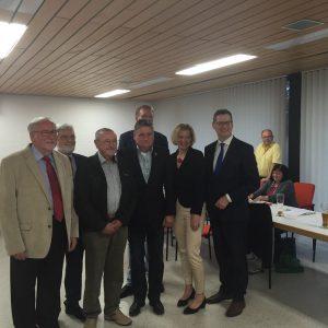 v.l.n.r.: Gerhard Schmidt, Karl-Heinz Funck, Klaus Schwalb, Hans-Peter Steckbauer, Ralf Volgmann, Anita Schneider, Thorsten Schäfer-Gümbel