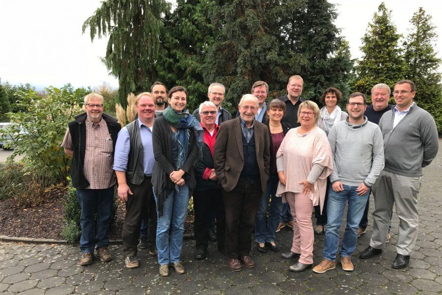 Gruppenbild der Mitglieder der Wettenberger SPD Fraktion und des Ortsvereinsvorstandes